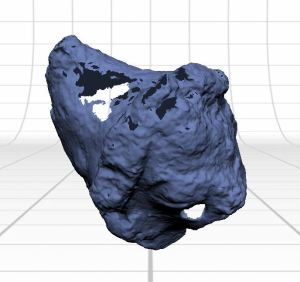 Image of 3D scan showing holes from where the scanner could not see