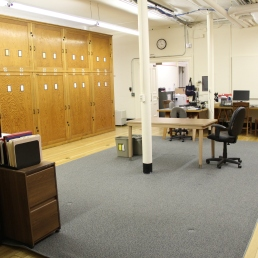 Reorganized basement work room