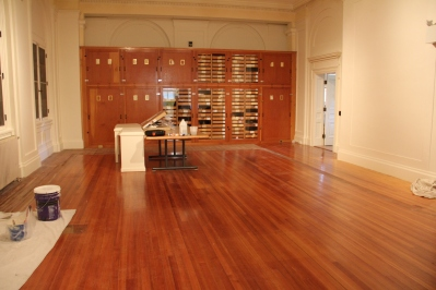 Newly emptied gallery space