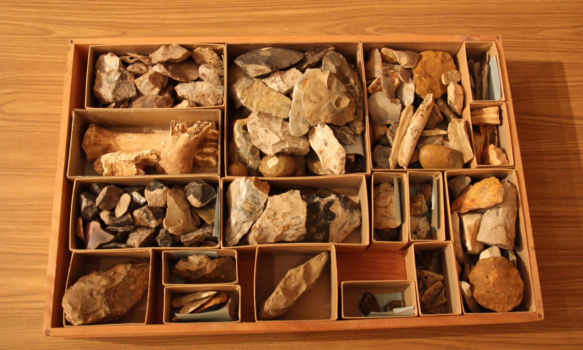 The drawer before cataloging