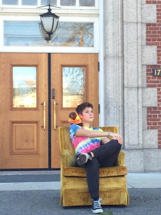 Alana outside of the Peabody