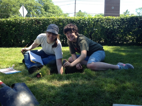 Alex and Marla excavated on campus