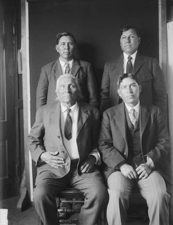 Photo of Ponca delegation to Washington DC, April 1909