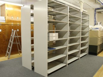 Completed shelving