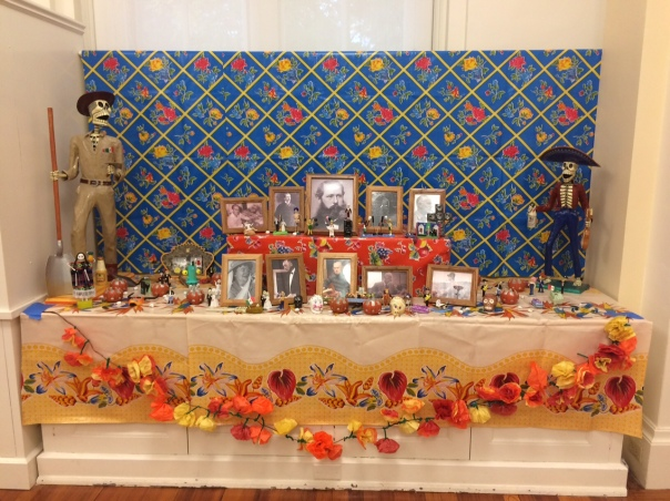 The completed alter as arranged by the students