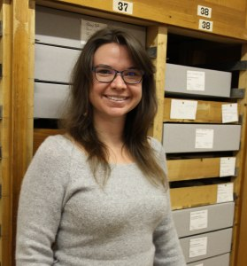 The new Peabody Collections Assistant, Samantha Hixson