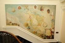 Stuart Travis Mural at the Robert S. Peabody Museum of Archaeology. Photography by Gil Talbot.