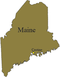 Map showing the location of Castine, ME.