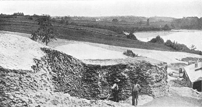 Image of Whaleback Shell Heap in Maine, similar to the Von Mach Shell Heap