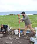 Image of John Andrew Campbell at Port au Choix site.