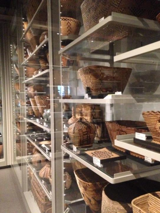Basketry display at the MOA