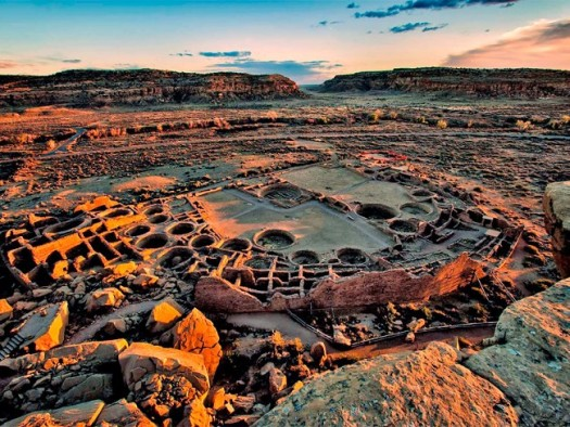 Overview of Chaco Canyon, New Mexico