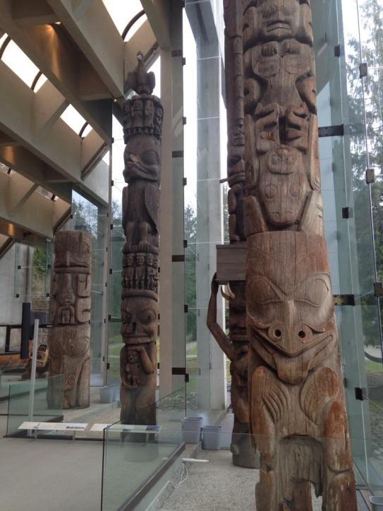 Totem poles at the MOA