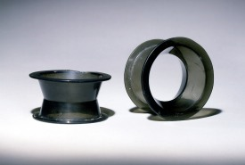 photograph of pulley ear spools