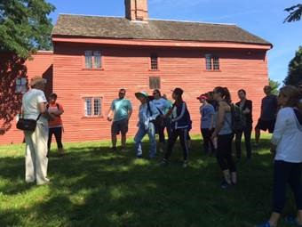 Dr. Nate Hamilton giving a tour of the Rebecca Nurse Homestead