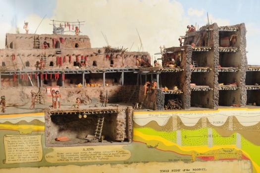 Image of artist Stuart Travis's Pecos Pueblo diorama, built in 1940.