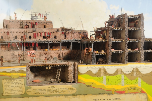 Image of artist Stuart Travis's Pecos Pueblo diorama, built in 1940.