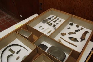 A drawer of material from Hopedale, Labrador.