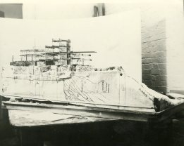 Pueblo Model under construction.