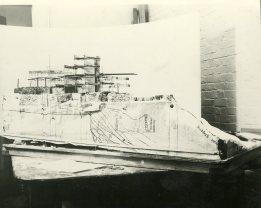 Pueblo Model under construction.