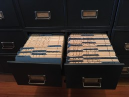 Drawers of punch cards