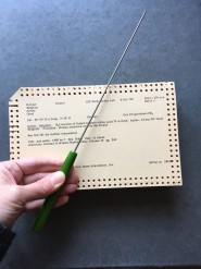 Punch card with sorter