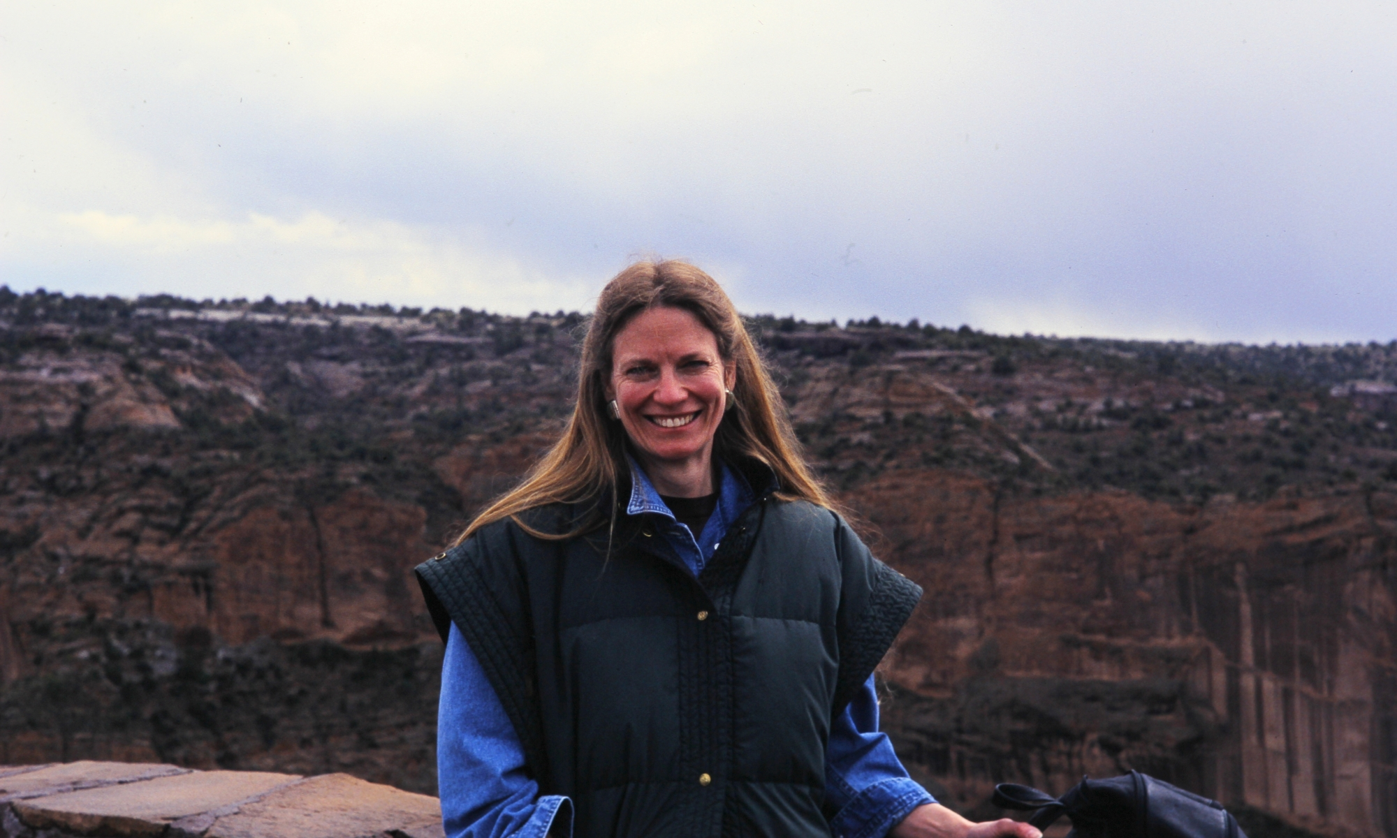 Malinda Stafford Blustain in New Mexico, circa 2002