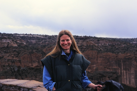 Malinda Stafford Blustain in New Mexico, circa 2002