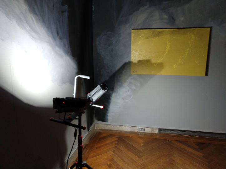 Faux smoke damaged gallery during disaster scenario