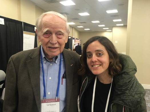 Ted Stoddard and Irene Gates at the SAA Annual Meeting, April 2018