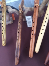 1. Selection of flutes hand made by Hawk Henries.