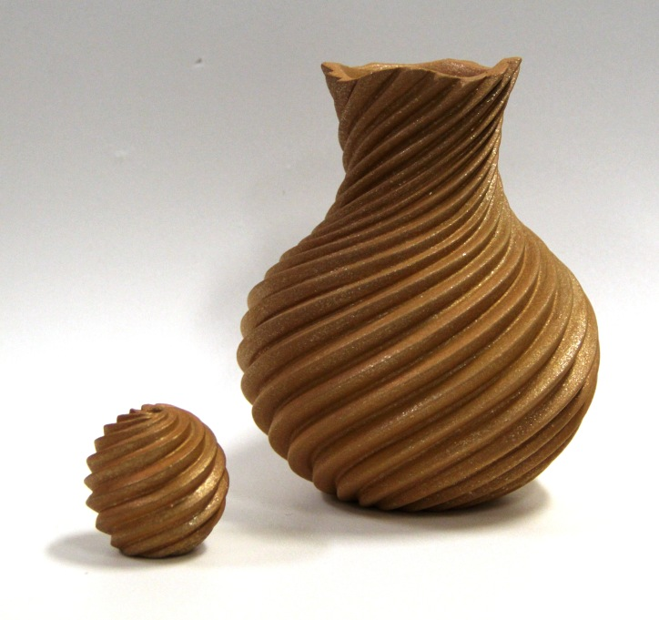 Image of vessels made by Dominique Toya.