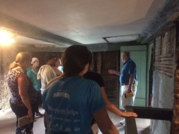 Tom giving our class a tour of the Gedney House