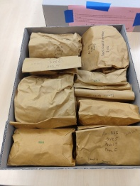 The material was largely returned in bags like these
