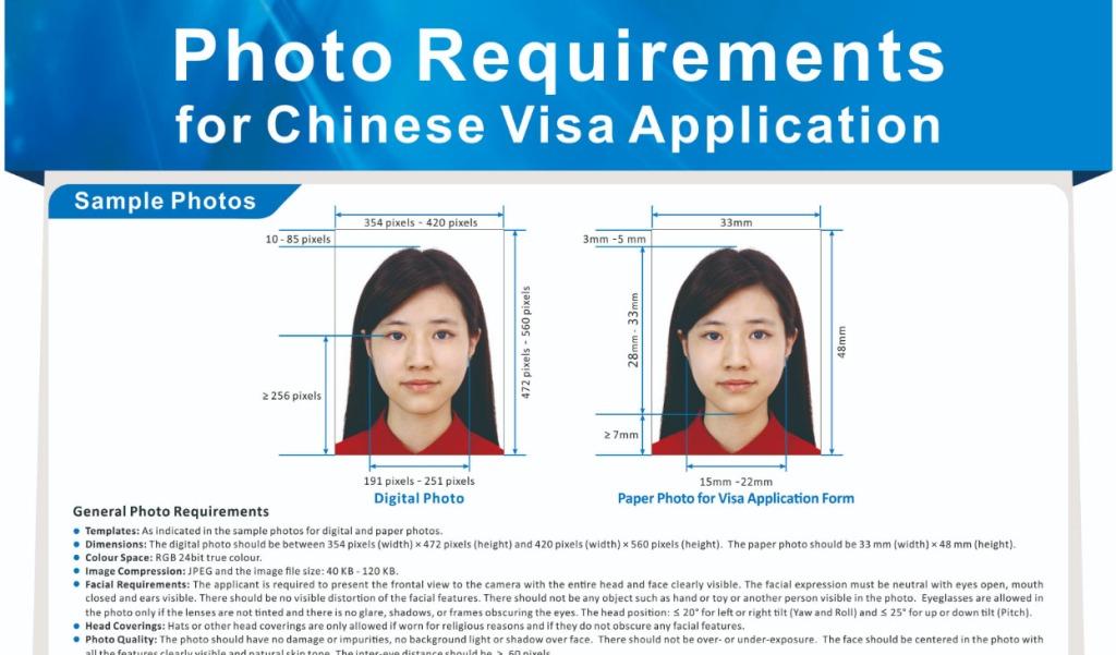китайская виза требования к фото стал