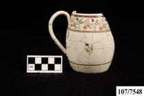 A partially reconstructed mug from the Lucy Foster site