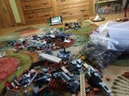 Fortunately, my kids recreated a mess with the Legos...